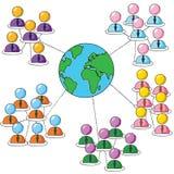 Verbindende groepen stock illustratie