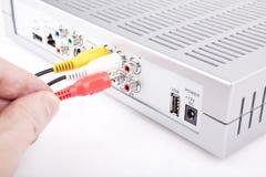 Verbindende kabels AV stock foto