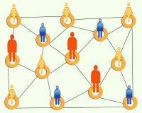 Verbindende mensen vector illustratie