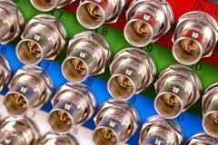 Verbinder bnc lizenzfreies stockbild
