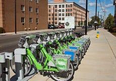 Verbinding Dayton Bike Share royalty-vrije stock afbeelding