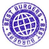 Verbinding van de Grunge de Geweven BESTE BURGERS Zegel vector illustratie