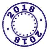 Verbinding van de Grunge de Geweven 2018 Ronde Zegel vector illustratie