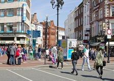 Verbinding van Grafton Street en St Groen Stephen, Dublin Stock Fotografie