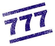 Verbinding van Grunge de Geweven 777 Zegel Royalty-vrije Stock Afbeelding
