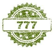 Verbinding van Grunge de Geweven 777 Zegel Royalty-vrije Stock Fotografie
