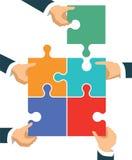 Verbindingen en samenwerking royalty-vrije illustratie