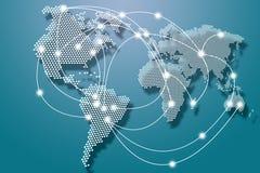 Verbindingen wereldwijd Stock Afbeelding