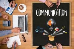 Verbindings Communicatie Ideeën, Communicatie Verbinding Soci Royalty-vrije Stock Afbeeldingen