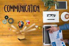 Verbindings Communicatie Ideeën, Communicatie Verbinding Soci Stock Foto