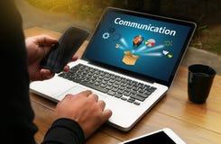 Verbindings Communicatie Ideeën, Communicatie Verbinding Soci Royalty-vrije Stock Foto's