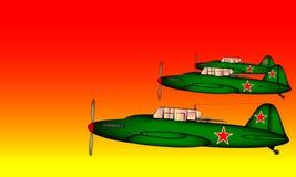 Verbindings tactisch vliegtuig Ilyushin IL-2 Stock Foto's