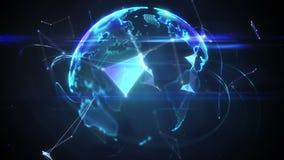 Verbindingslijnen met grafische aarde