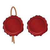 verbindingswas in rode kleurenillustratie wordt geplaatst op witte achtergrond die Royalty-vrije Stock Afbeeldingen