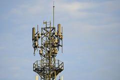 Verbindung- über Satelittesystem LNB lizenzfreie stockfotografie