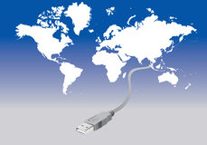 Verbindung der Welt Lizenzfreies Stockbild