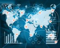 Verbindung der Welt Lizenzfreies Stockfoto