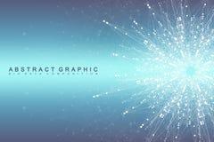 Verbindung des globalen Netzwerks Netz und großer Datensichtbarmachungshintergrund Futuristisches globales Geschäft Vektor lizenzfreie abbildung