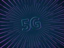 Verbindung 5g Breitbandnetz drahtlosen Daten?bertragungs-Technologiegeschwindigkeit Smartphone Internet-Krisenherd schnell anschl lizenzfreie abbildung