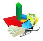 Verbindung an Internet und E-Business Lizenzfreie Stockbilder