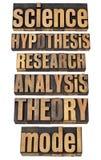 In Verbindung stehende Ausdrücke der Wissenschaft und der Forschung stockbild