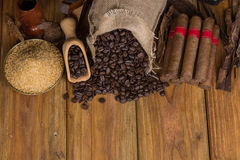In Verbindung stehende Einzelteile der kubanischen Zigarren Lizenzfreies Stockbild