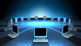 In Verbindung stehende Hauptrechner Lizenzfreie Stockfotos