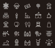 In Verbindung stehende Ikonen des Vergnügungsparks Stockfotografie