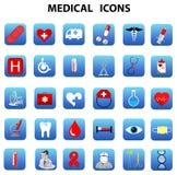 In Verbindung stehende Krankenhäuser der medizinischen Ikonen Lizenzfreie Stockfotografie