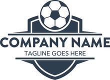 In Verbindung stehende Logoschablone des einzigartigen Fußballfußballs Vektor editable
