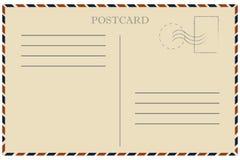 In Verbindung stehende Nachricht der sammelbaren Post Antike Alte Schablone Retro- Luftpostumschlag mit Stempel vektor abbildung