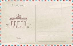 In Verbindung stehende Nachricht der sammelbaren Post Antike ENV 10 Hauptstädte der Welt vektor abbildung