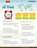 In Verbindung stehende Schablone infographics Webseite der Nachrichten Lizenzfreies Stockbild