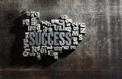 In Verbindung stehende Wörter des Erfolgskonzeptes Stockfoto