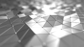 In Verbindung stehender silberner polygonaler Bewegungshintergrund der futuristischen Technologie Nahtlose Schleife stock abbildung
