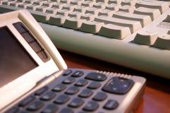 Verbindung und Tastatur Stockfoto