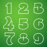 Verbindungs-Alphabet-Vektor-Guss stellte 4 1 bis 9 ein Lizenzfreie Stockfotos