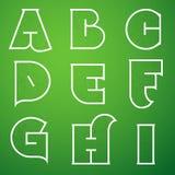 Verbindungs-Alphabet-Vektor-Guss stellte 1 A bis I ein Stockfotos