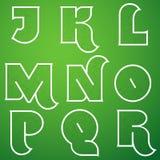Verbindungs-Alphabet-Vektor-Guss stellte 2 J bis R ein Stockfoto