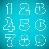 Verbindungs-Alphabet-Vektor-Guss stellte 4 Nr. 1 ein Stockbild