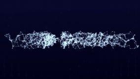 Verbindungs-Strukturhintergrund der Animation 3D mit Text Webdesign stock video footage