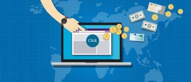Verbindungsteilnehmermarketing-Pay per Click Lizenzfreies Stockfoto