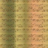Verblaßter alter gelegentlicher Hintergrund der musikalischen Anmerkungen Stockbild