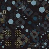 Verblaßtes geometrisches nahtloses Muster Lizenzfreie Stockfotos