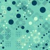 Verblaßtes geometrisches nahtloses Muster Stockfotos