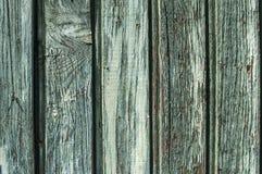 Verblassen blaue Wand des hölzernen Brettes Lizenzfreie Stockfotografie