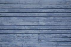 Verblassenes blaues Abstellgleis stockfoto