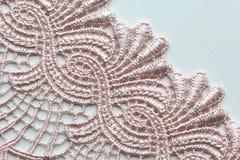 Verbleek - roze materieel de textuur macroschot van het bloemkant Stock Afbeelding