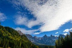 Verbleek van San Martino in de Herfst Stock Fotografie