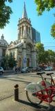 Verbo Encarnado和Sagrada Familia帕里什在罗马Norte, Mexi 免版税库存图片
